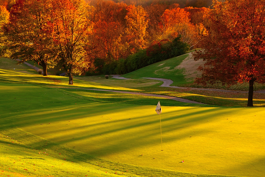 Fall golf course